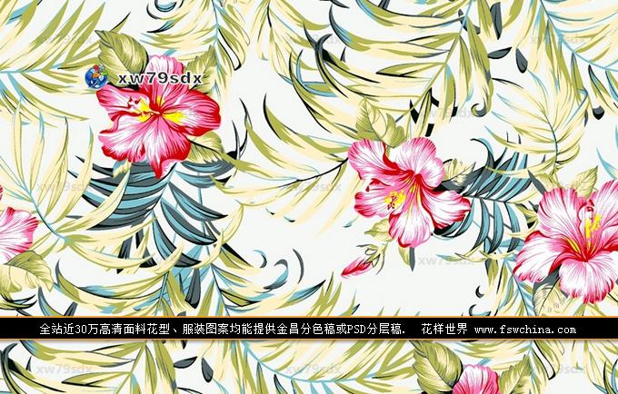 花卉花型 印花图案 热带风情 面料花型 花型设计